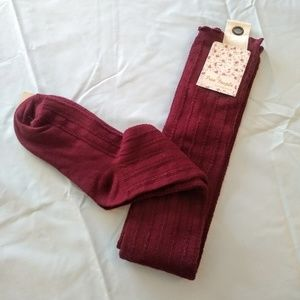 Free People Over Knee Socks Thigh High Pointelle